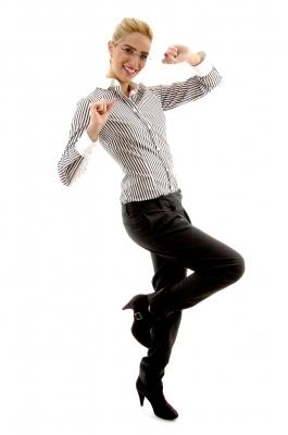 Business Woman happy dance-imagerymajestic