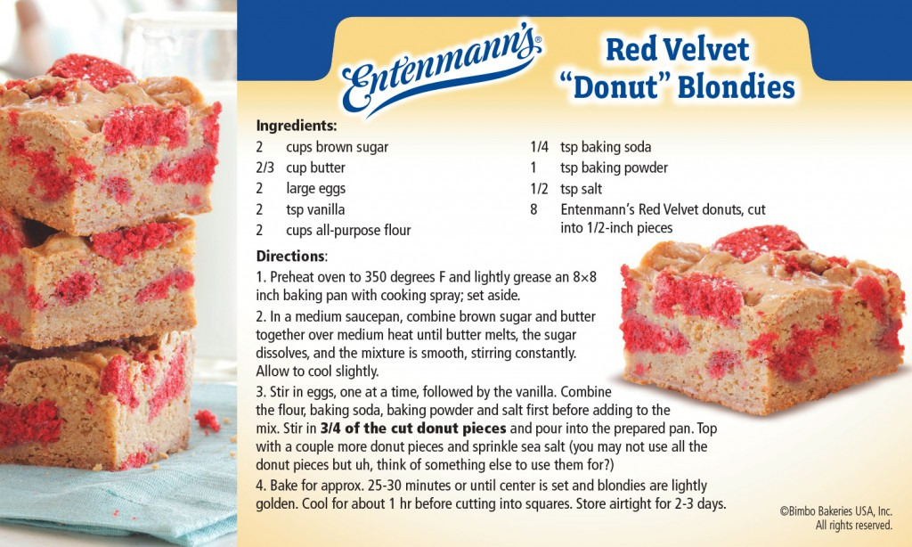 Entenmann's Red Velvet 'Donut' Blondie Recipe