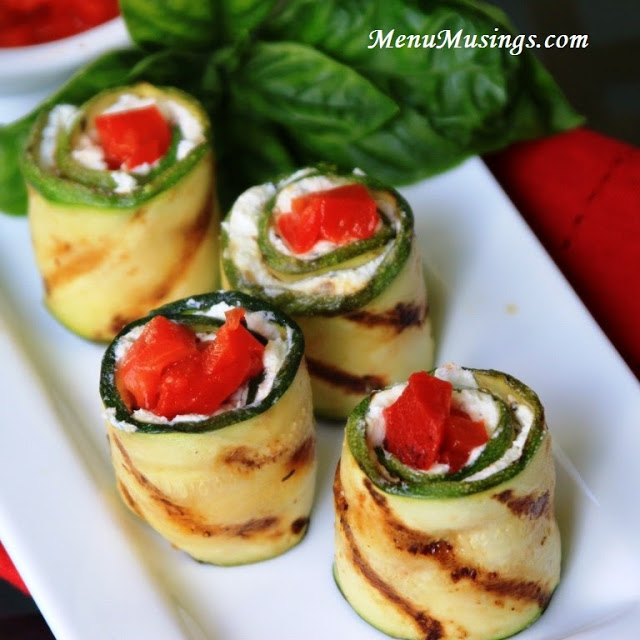 Grilled Eggplant Rolls by Menu Musings