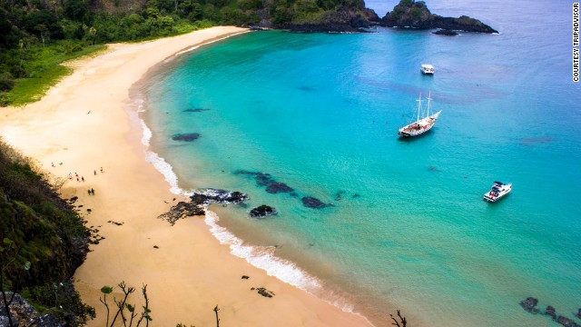 Baia do sancho beach brazil