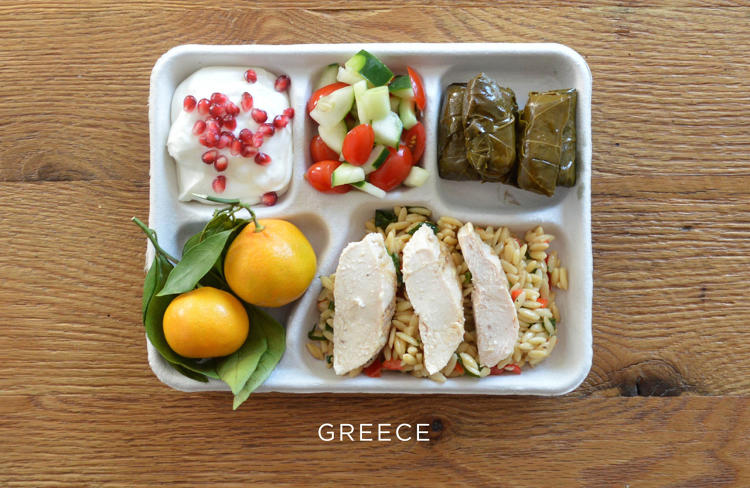 school lunch greece