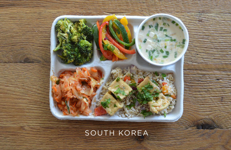 school lunches korea