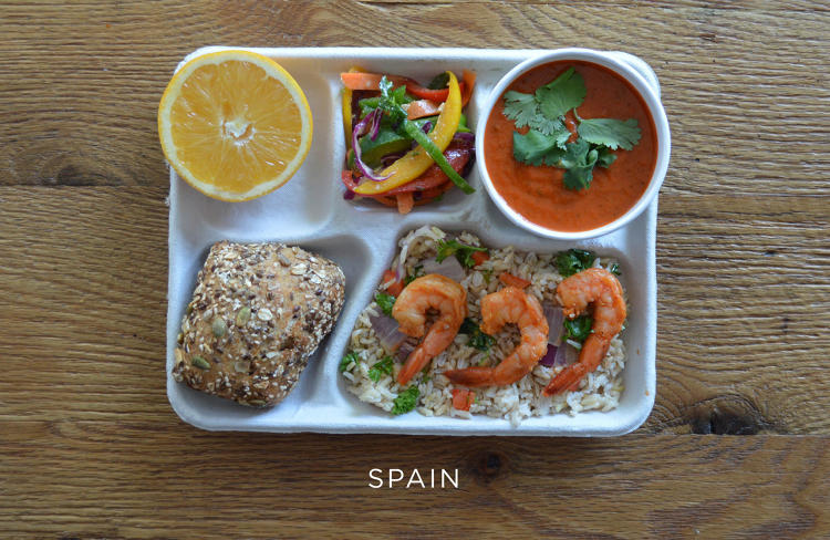 school lunch spain