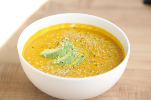 soup with hemp nuts