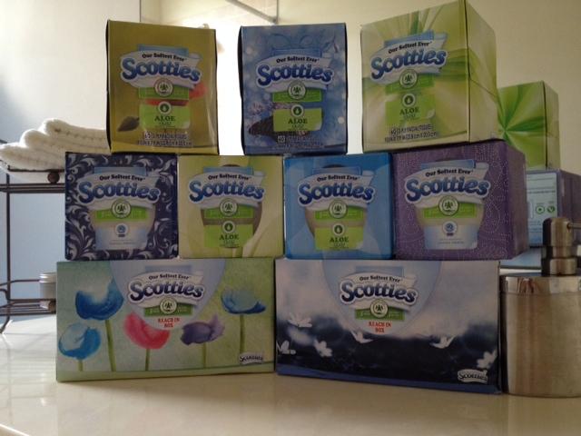 Scotties tissue boxes
