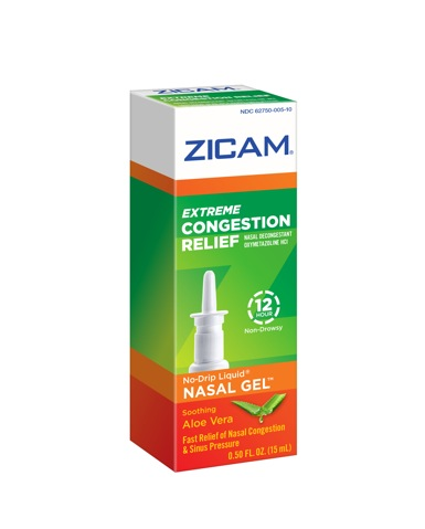 zicam nasal gel congestion