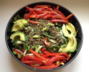 Salad lentil beans plant proteins