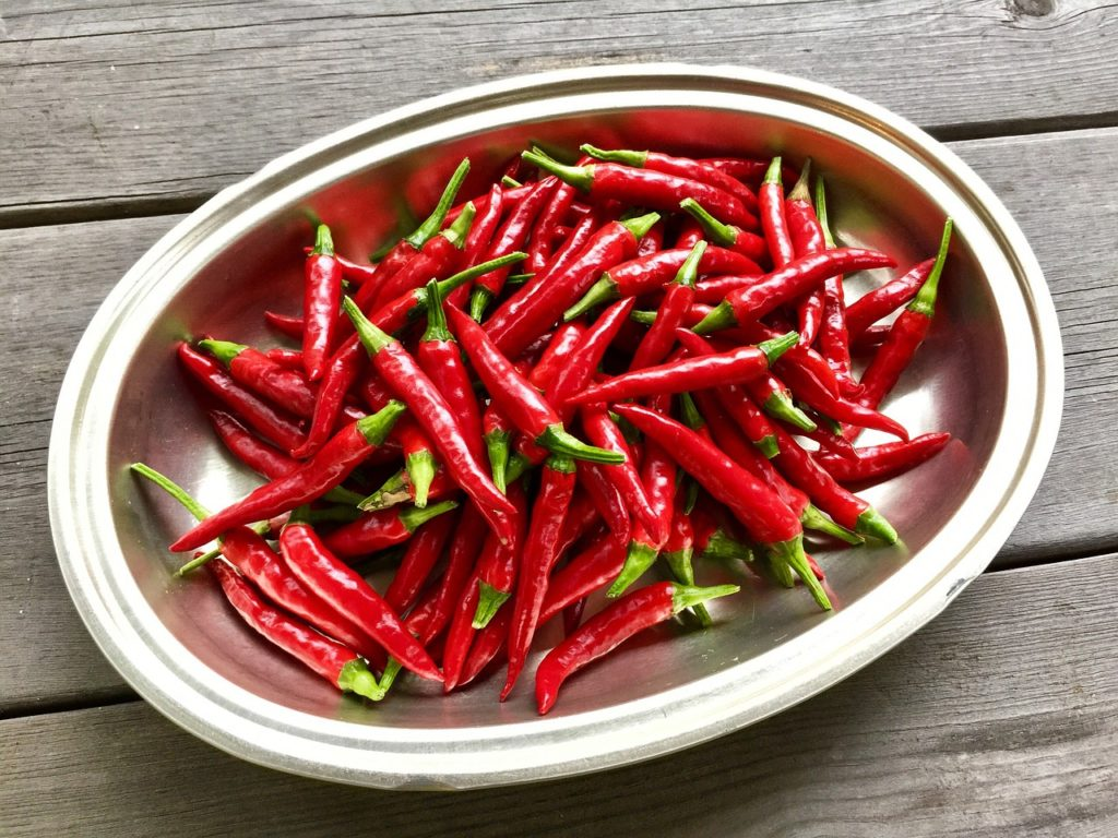 hot peppers benefits, capsaicin